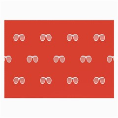 Glasses Disco Retina Red White Line Large Glasses Cloth by Mariart