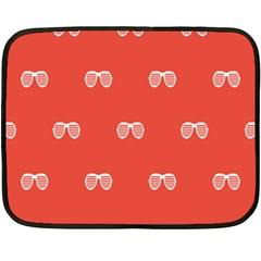 Glasses Disco Retina Red White Line Fleece Blanket (mini) by Mariart