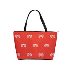 Glasses Disco Retina Red White Line Shoulder Handbags by Mariart