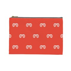 Glasses Disco Retina Red White Line Cosmetic Bag (large)  by Mariart