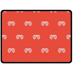 Glasses Disco Retina Red White Line Fleece Blanket (large)  by Mariart