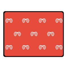 Glasses Disco Retina Red White Line Fleece Blanket (small) by Mariart