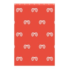 Glasses Disco Retina Red White Line Shower Curtain 48  X 72  (small)  by Mariart