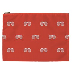 Glasses Disco Retina Red White Line Cosmetic Bag (xxl)  by Mariart