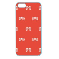 Glasses Disco Retina Red White Line Apple Seamless Iphone 5 Case (color) by Mariart