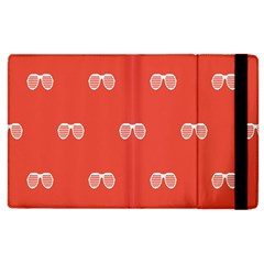 Glasses Disco Retina Red White Line Apple Ipad 3/4 Flip Case by Mariart