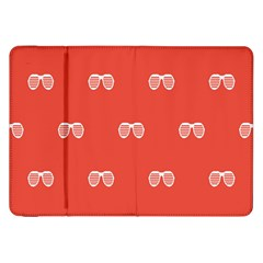 Glasses Disco Retina Red White Line Samsung Galaxy Tab 8 9  P7300 Flip Case by Mariart