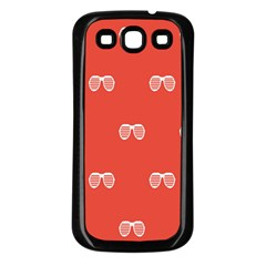 Glasses Disco Retina Red White Line Samsung Galaxy S3 Back Case (black) by Mariart
