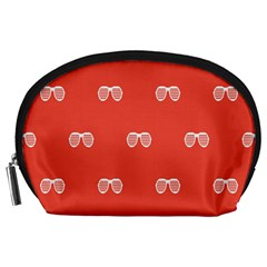 Glasses Disco Retina Red White Line Accessory Pouches (large)  by Mariart