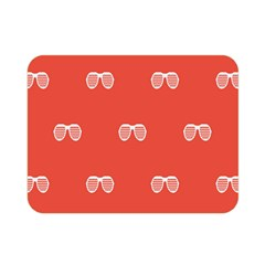 Glasses Disco Retina Red White Line Double Sided Flano Blanket (mini)  by Mariart