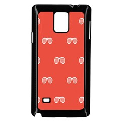 Glasses Disco Retina Red White Line Samsung Galaxy Note 4 Case (black) by Mariart