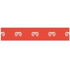 Glasses Disco Retina Red White Line Flano Scarf (large) by Mariart