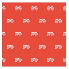 Glasses Disco Retina Red White Line Large Satin Scarf (square) by Mariart