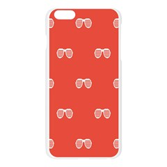 Glasses Disco Retina Red White Line Apple Seamless iPhone 6 Plus/6S Plus Case (Transparent) by Mariart