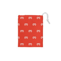 Glasses Disco Retina Red White Line Drawstring Pouches (xs)  by Mariart
