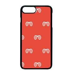 Glasses Disco Retina Red White Line Apple Iphone 7 Plus Seamless Case (black) by Mariart