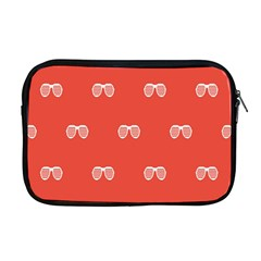 Glasses Disco Retina Red White Line Apple Macbook Pro 17  Zipper Case by Mariart