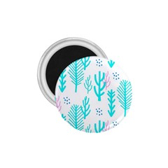 Forest Drop Blue Pink Polka Circle 1 75  Magnets by Mariart