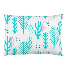 Forest Drop Blue Pink Polka Circle Pillow Case by Mariart