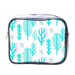 Forest Drop Blue Pink Polka Circle Mini Toiletries Bags by Mariart
