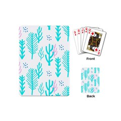 Forest Drop Blue Pink Polka Circle Playing Cards (mini)  by Mariart