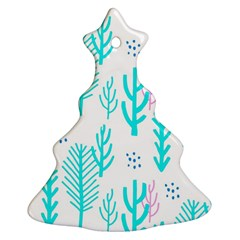 Forest Drop Blue Pink Polka Circle Ornament (christmas Tree)  by Mariart