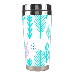 Forest Drop Blue Pink Polka Circle Stainless Steel Travel Tumblers by Mariart