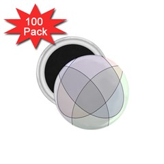 Four Way Venn Diagram Circle 1 75  Magnets (100 Pack)  by Mariart