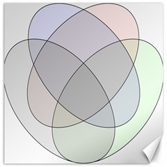 Four Way Venn Diagram Circle Canvas 16  X 16   by Mariart