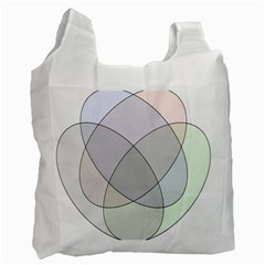 Four Way Venn Diagram Circle Recycle Bag (one Side) by Mariart