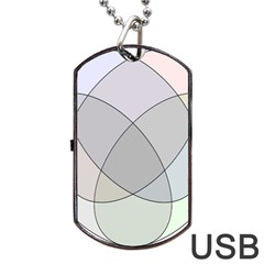 Four Way Venn Diagram Circle Dog Tag Usb Flash (one Side) by Mariart