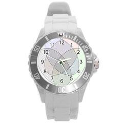 Four Way Venn Diagram Circle Round Plastic Sport Watch (l) by Mariart