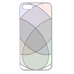 Four Way Venn Diagram Circle Apple Seamless Iphone 5 Case (clear) by Mariart