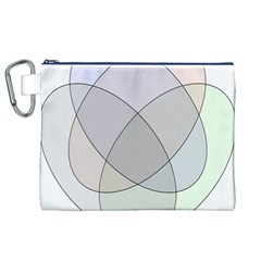 Four Way Venn Diagram Circle Canvas Cosmetic Bag (xl) by Mariart