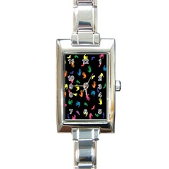 Hand And Footprints Rectangle Italian Charm Watch by Mariart