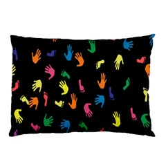 Hand And Footprints Pillow Case by Mariart