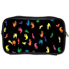 Hand And Footprints Toiletries Bags by Mariart