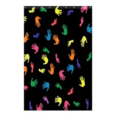 Hand And Footprints Shower Curtain 48  X 72  (small)  by Mariart