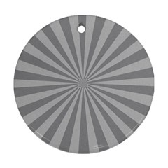 Grey Starburst Line Light Ornament (round)
