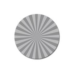 Grey Starburst Line Light Magnet 3  (round) by Mariart