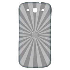 Grey Starburst Line Light Samsung Galaxy S3 S Iii Classic Hardshell Back Case by Mariart