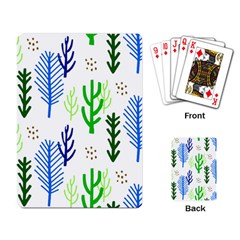 Forest Green Drop Blue Brown Polka Circle Playing Card by Mariart