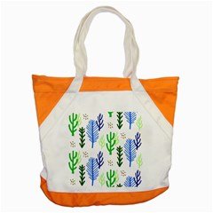 Forest Green Drop Blue Brown Polka Circle Accent Tote Bag by Mariart
