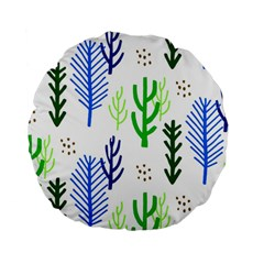 Forest Green Drop Blue Brown Polka Circle Standard 15  Premium Round Cushions by Mariart
