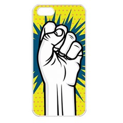 Hand Polka Dot Yellow Blue White Orange Sign Apple Iphone 5 Seamless Case (white) by Mariart