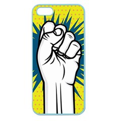 Hand Polka Dot Yellow Blue White Orange Sign Apple Seamless Iphone 5 Case (color) by Mariart
