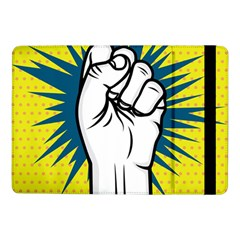 Hand Polka Dot Yellow Blue White Orange Sign Samsung Galaxy Tab Pro 10 1  Flip Case by Mariart