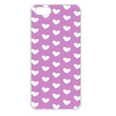 Heart Love Valentine White Purple Card Apple Iphone 5 Seamless Case (white) by Mariart