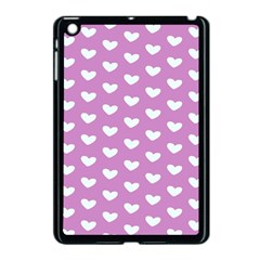 Heart Love Valentine White Purple Card Apple Ipad Mini Case (black) by Mariart