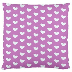 Heart Love Valentine White Purple Card Standard Flano Cushion Case (one Side) by Mariart